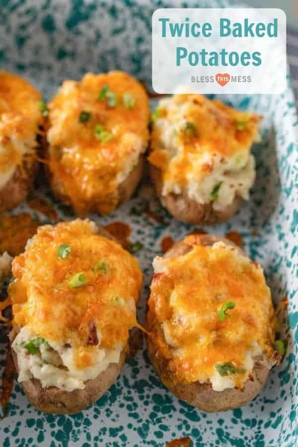 Twice Baked Potatoes Recipe with Bacon & Cheese   Easy Side Dish Idea