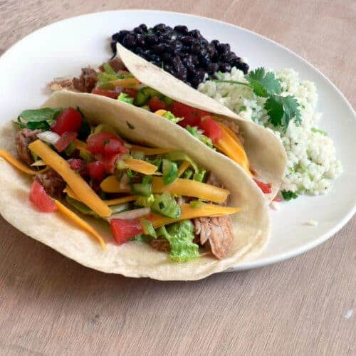 Slow Cooker Pork Tacos with all the extras