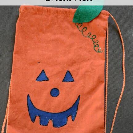 DIY No-Sew Pumpkin Backpack