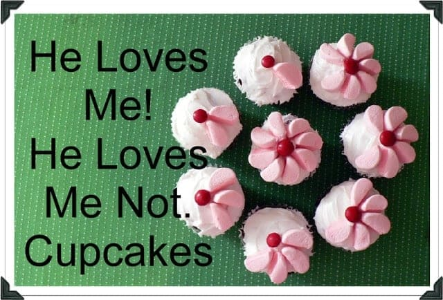 How To: He Loves Me! He Loves Me Not. Cupcakes