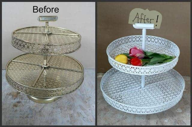 Trash to Treasure: Stacked Serving Trays