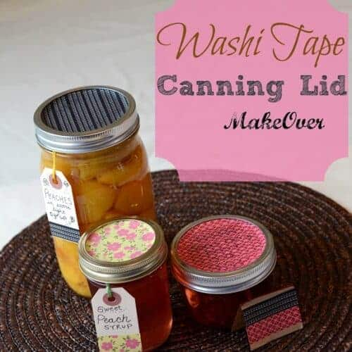 Washi Tape Canning Lids and Paper Bags