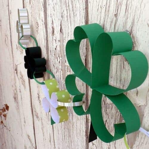 How to: Paper Shamrock Chain