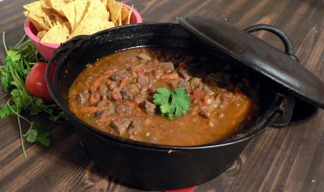 Dutch Oven Venison Chili