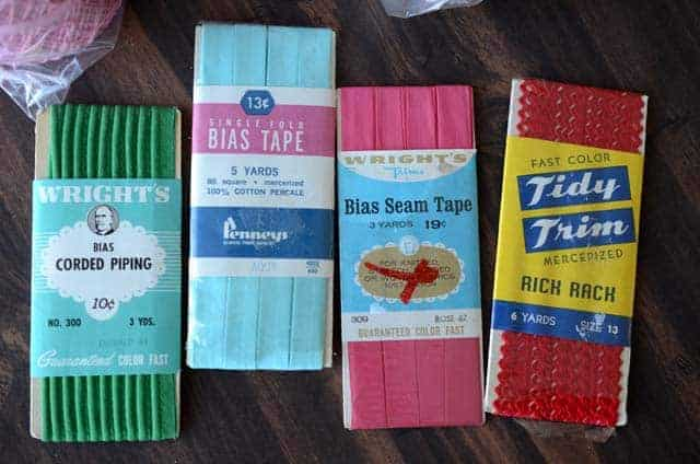 thirft store finds vintage sewing notions