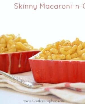 Skinny Macaroni and Cheese - a few smart choices will save you 320 calories compared to traditional mac-n-cheese.