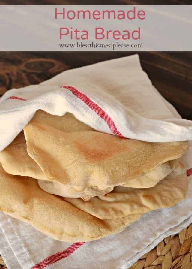 Homemade Whole Wheat Pitas - fun to make and they taste good to boot.