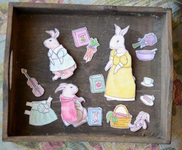 Spring Paper Rabbits