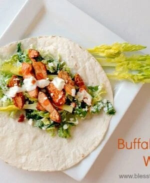 Put buffalo chicken wraps on your menu for this week because they are easy and delicious and perfect for the whole family.