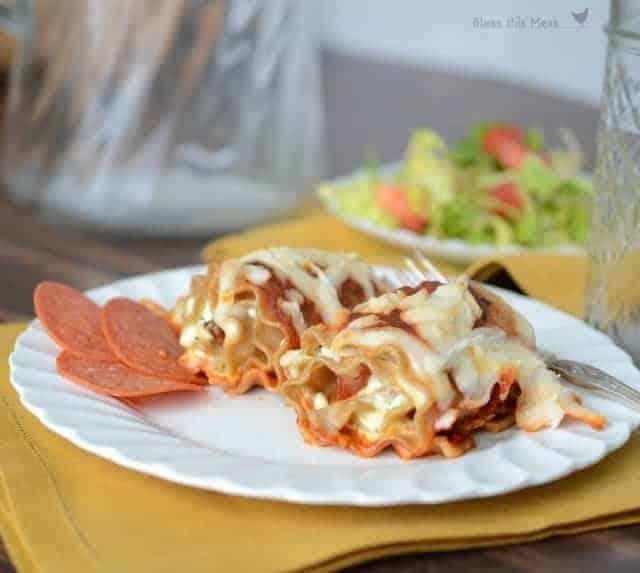pepperoni pizza lasagna roll ups1
