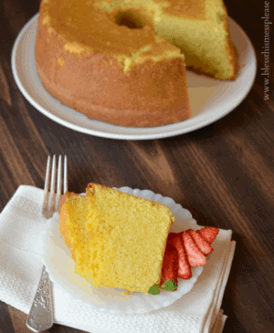 The Perfect Pound Cake comes together easily and it feels a bit fancier than a normal cake; perfect for a holiday or special occasion.