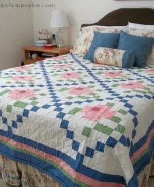 Today I'm sharing two beautiful vintage quilts - one old and one a recreation of the past. You'll love this Mosaic Rose Quilt Top.