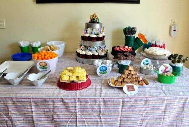 mario themed party food
