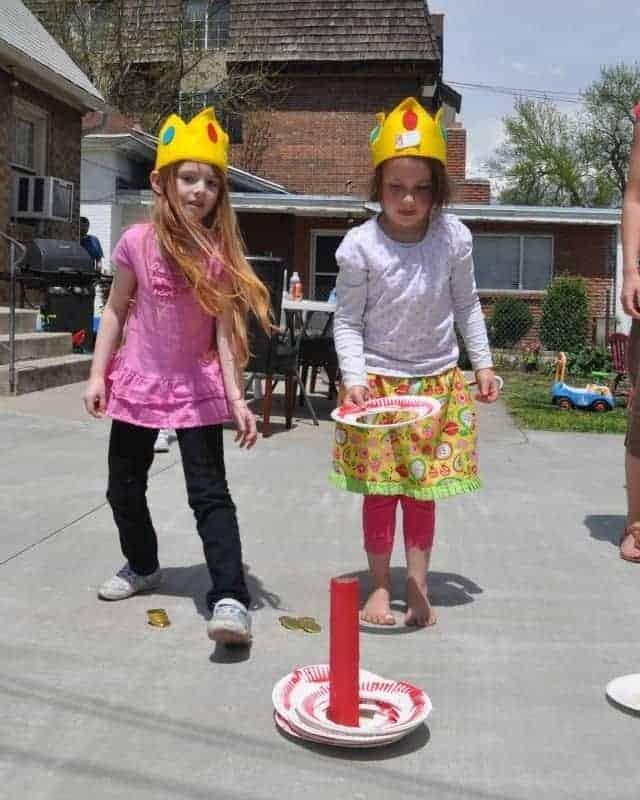 kids playing ring toss