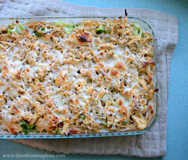 Healthy Tetrazzini with Chicken and Broccoli