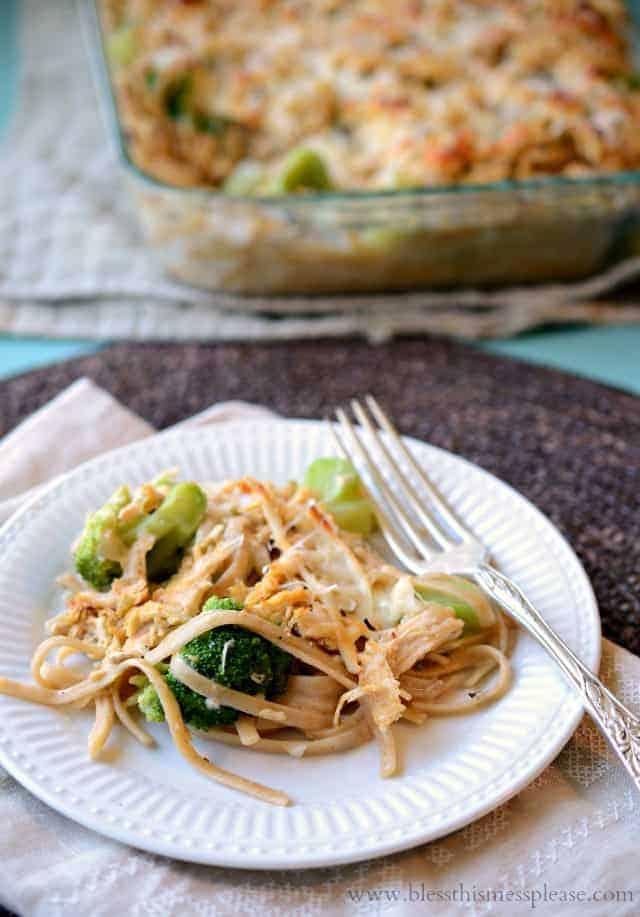 healthy chicken and broccoli noodles