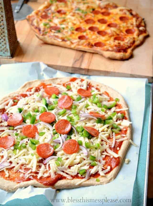 Image of whole wheat pizza dough