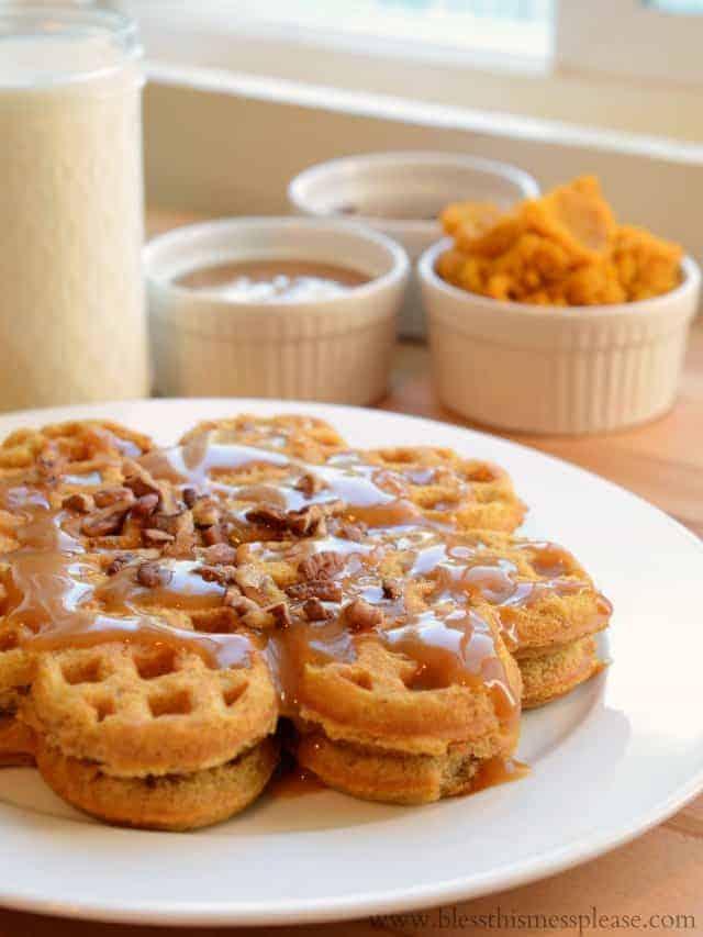 Pumpkin Caramel Spice Waffles Recipe