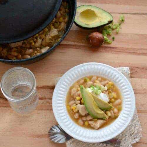 Quick, Easy, and Healthy White Chicken Enchilada Soup