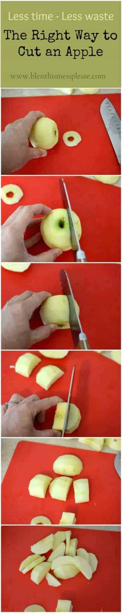 How to cut an apple from www.blessthismessplease.com Are you doing it right?!
