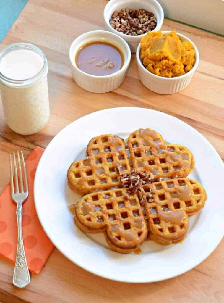 Easy Homemade Pumpkin Waffles Recipe