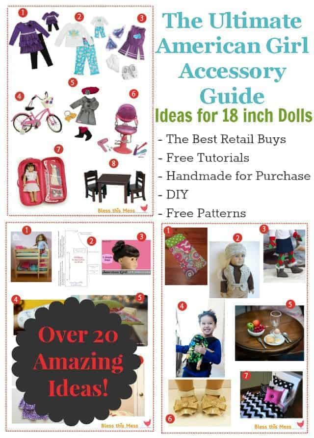 The Ultimate American Girl Accessory Guide with over 20 links to the best retail buys, free tutorials, handmade products for purchase and DIY