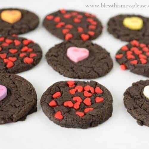 Rich Dark Chocolate Valentine's Cookies