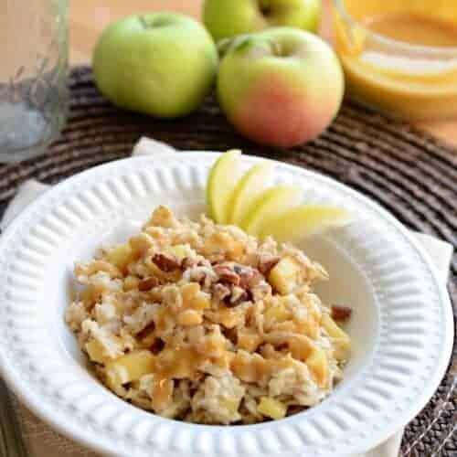 Caramel Apple Oatmeal Recipe