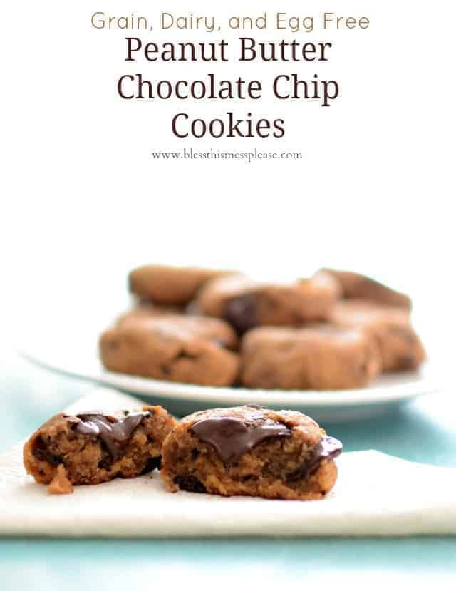 Image of ChickpeaPeanut Butter Chocolate Chip Cookies