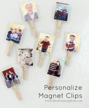 Personalized Magnet Clips and DIY Puzzles perfect for kids and gifts.