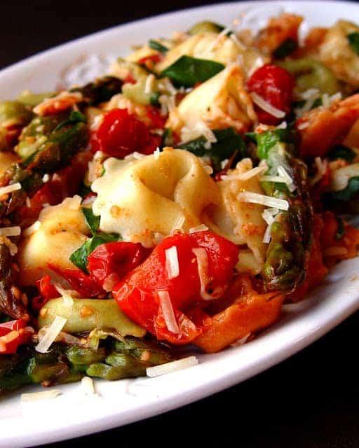 Roasted Tomato and Asparagus Tortellini