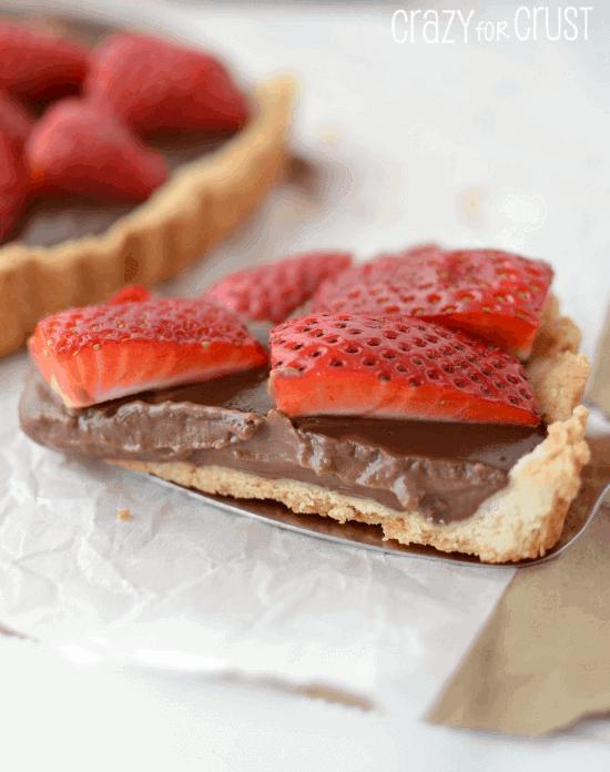 Nutella Strawberry Tart