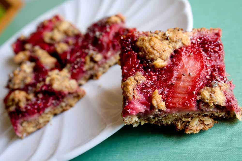 Strawberry-Rhubarb Pie Squares