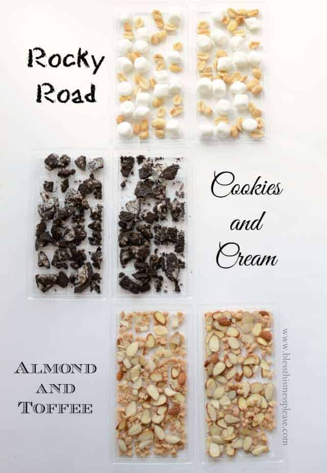 homemade candy bars with cookies