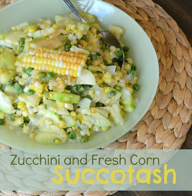 Peas Zucchini Succotash