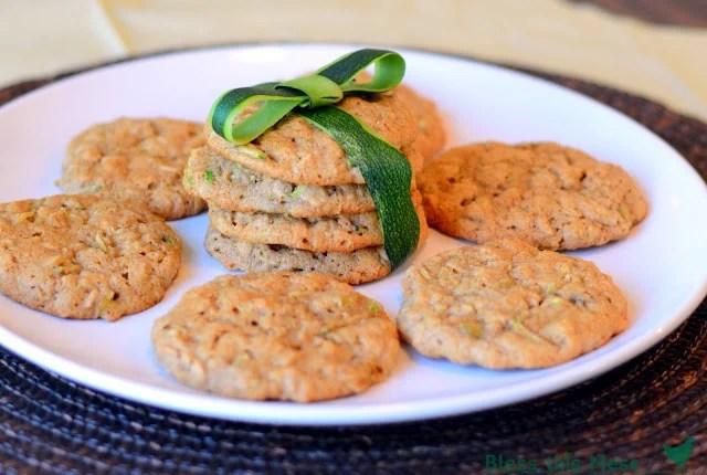 Zucchini Oatmeal cookies whole wheat