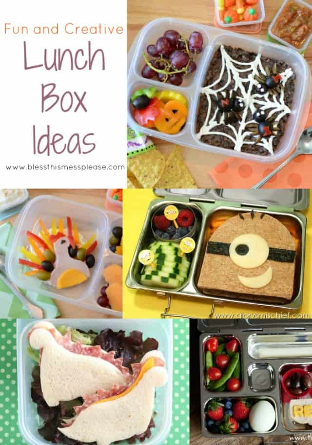Image of some fun lunch boxes