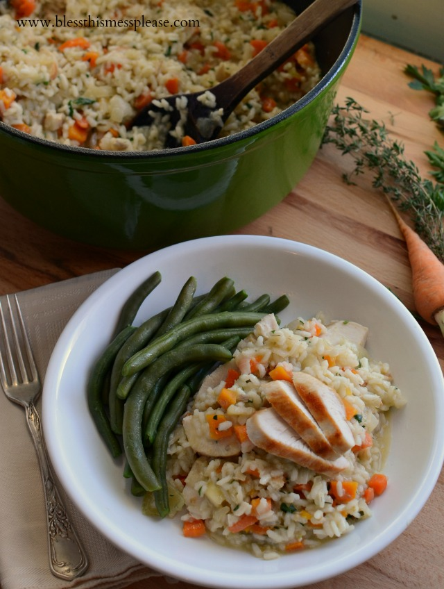 Perfect Stove Top Chicken and Rice. I love comfort food that's good for you!