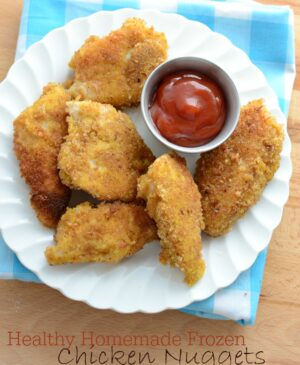 Stock your freezer with these Healthy Homemade Frozen Chicken Nuggets from America's Test Kitchen.