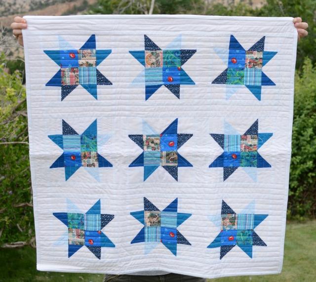 quilt blue star