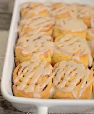Image of One Hour Pumpkin Cinnamon Rolls