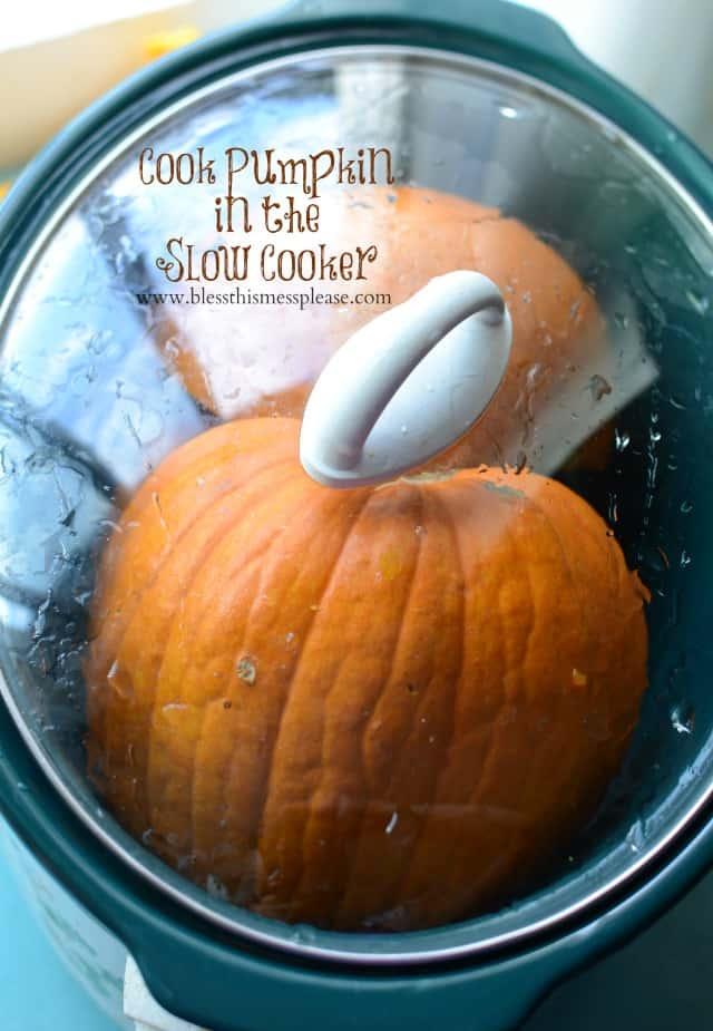 pumpkin in the slow cooker