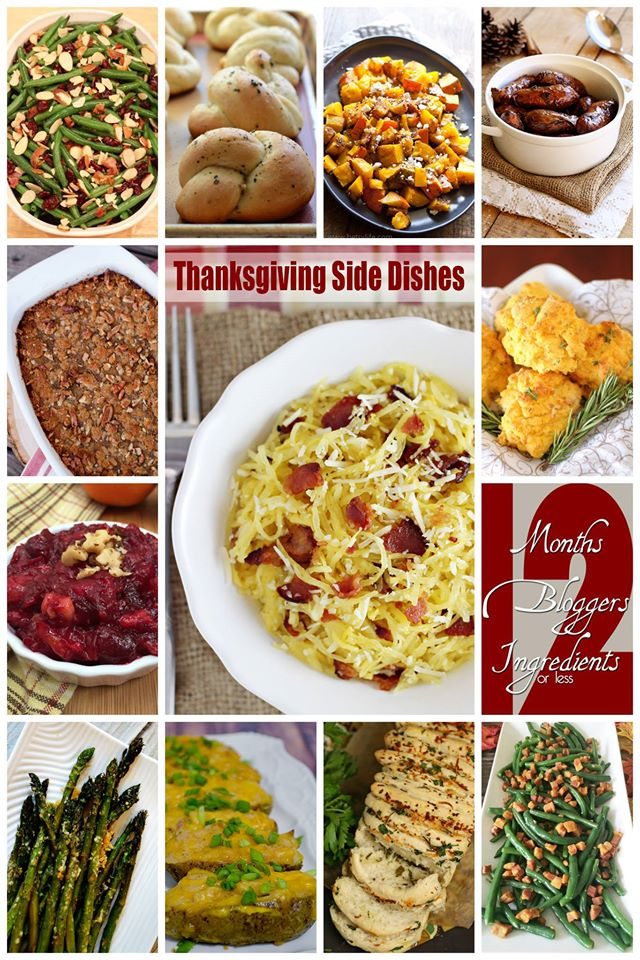 12 Thanksgiving Side Dishes collage image