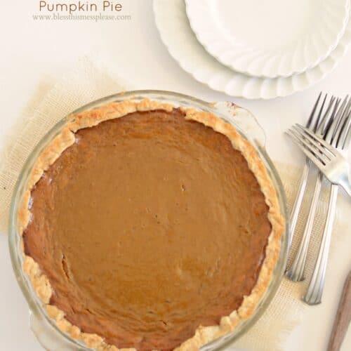 Pumpkin Pie from Fresh Pumpkin