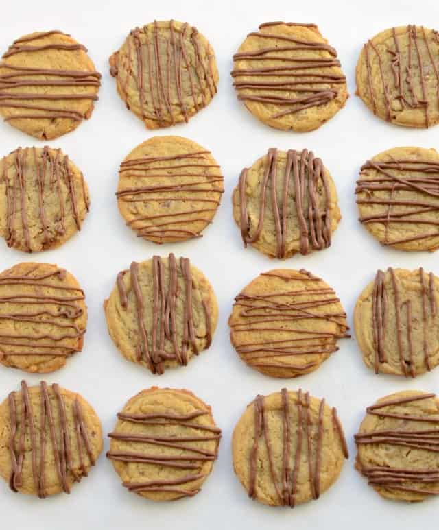 Toffee Butter Cookies with Chololate - English Toffee in cookie form!!