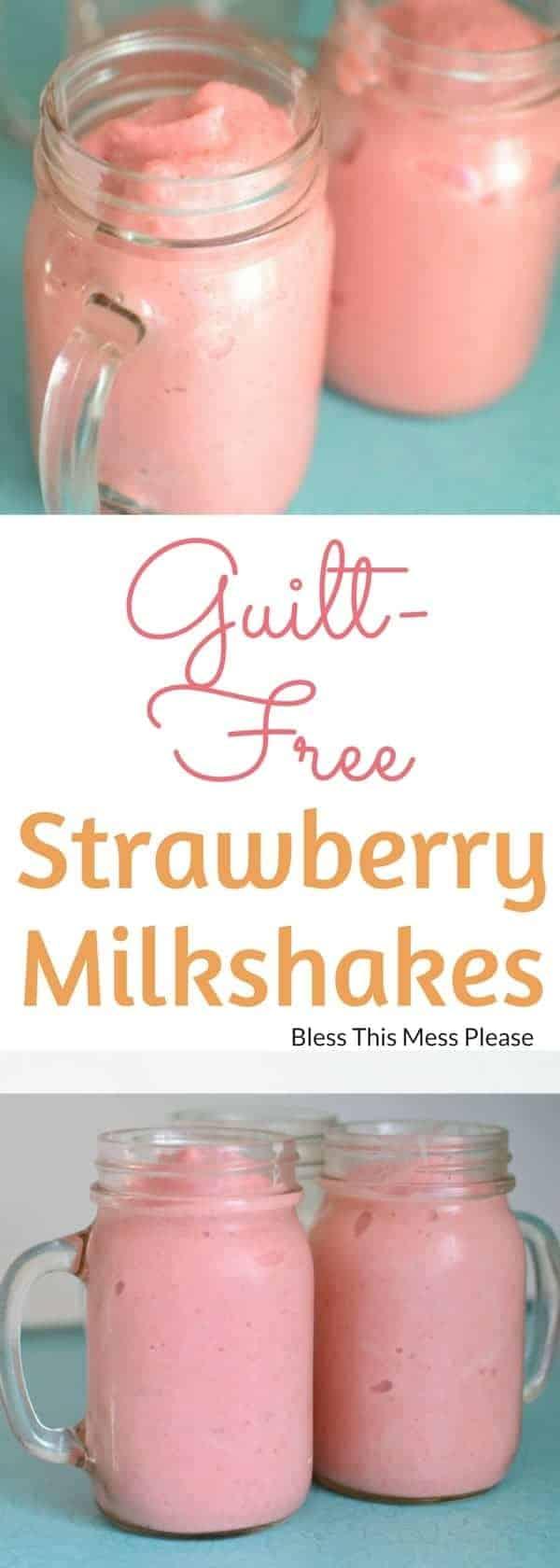 Guilt-Free Strawberry Milkshakes