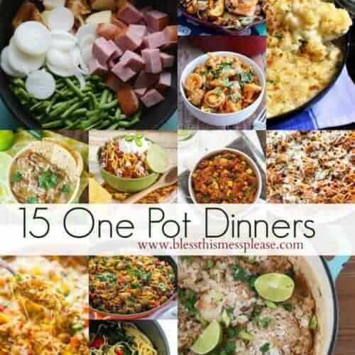 15 Simple One-Pot Dinner Ideas