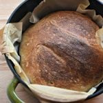 Super Simple No-Knead Bread using just 4 ingredients.