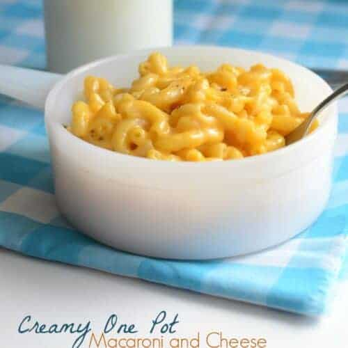 Creamy One Pot Macaroni and Cheese