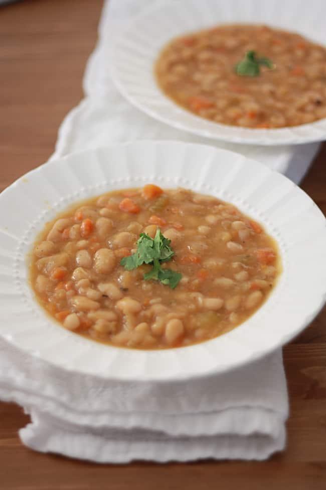 Slow Cooker Vegetable Bean Soup